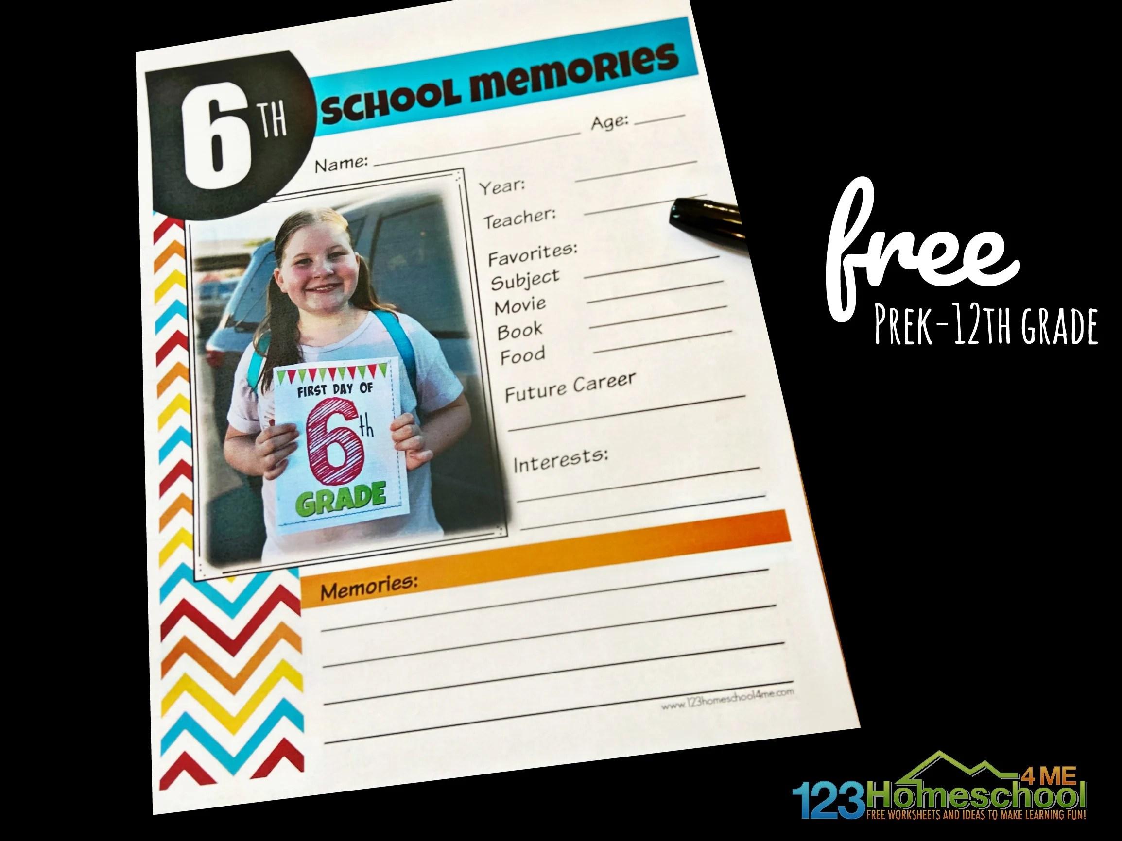 Free School Memory Book
