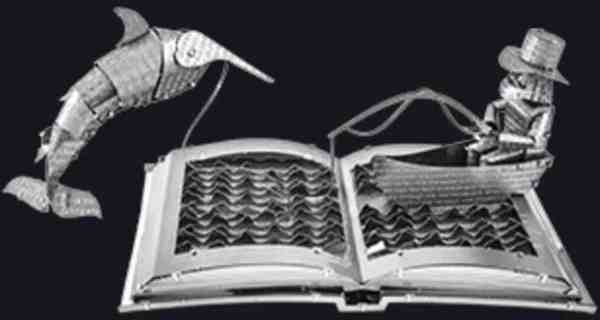 Metal Earth The Old Man & The Sea Book Sculpture