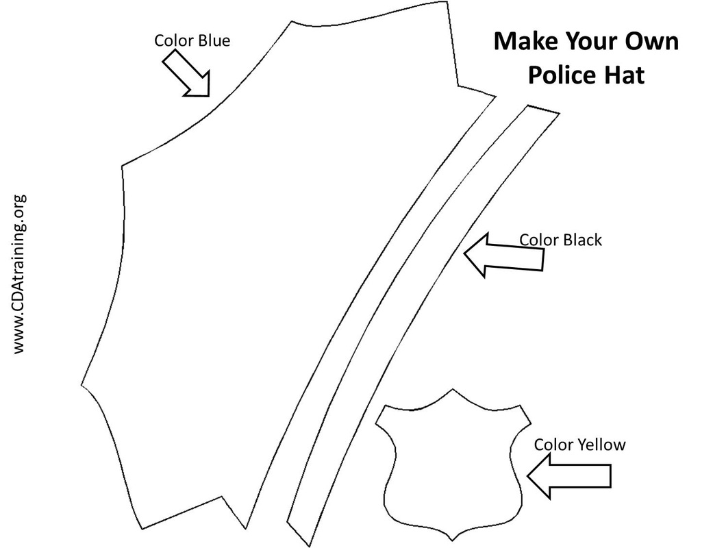 Coloring Police Hat Craft Coloring Pages