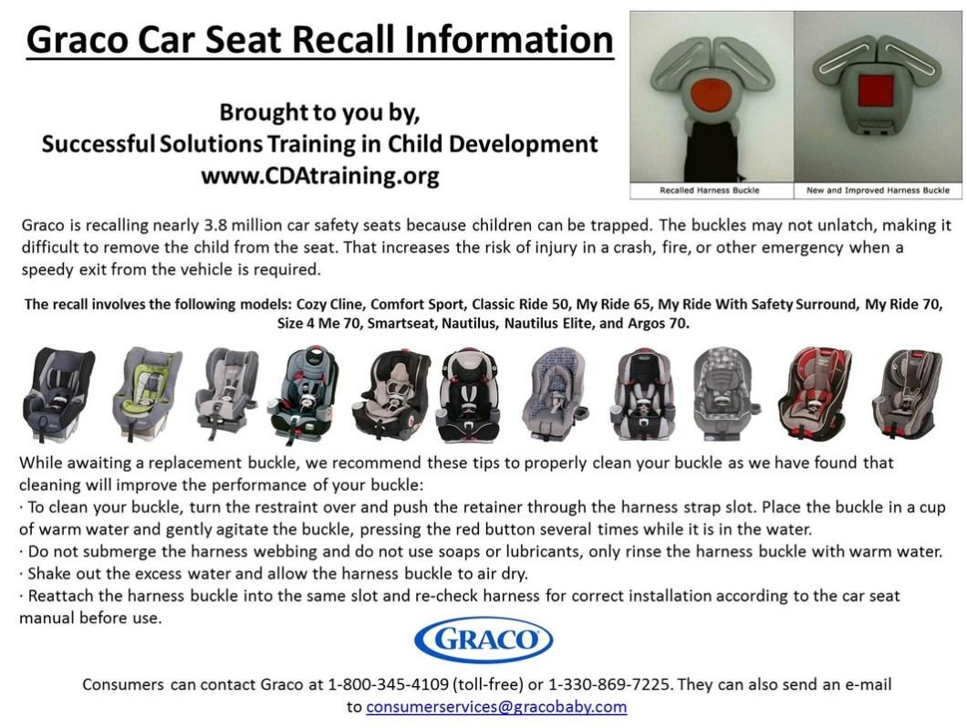 Graco Buckle Recall >> Graco Nautilus Car Seat Buckle Recall Wallseat Co