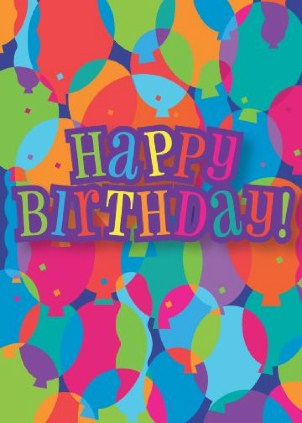 Vertical Birthday Cards 123Print UK