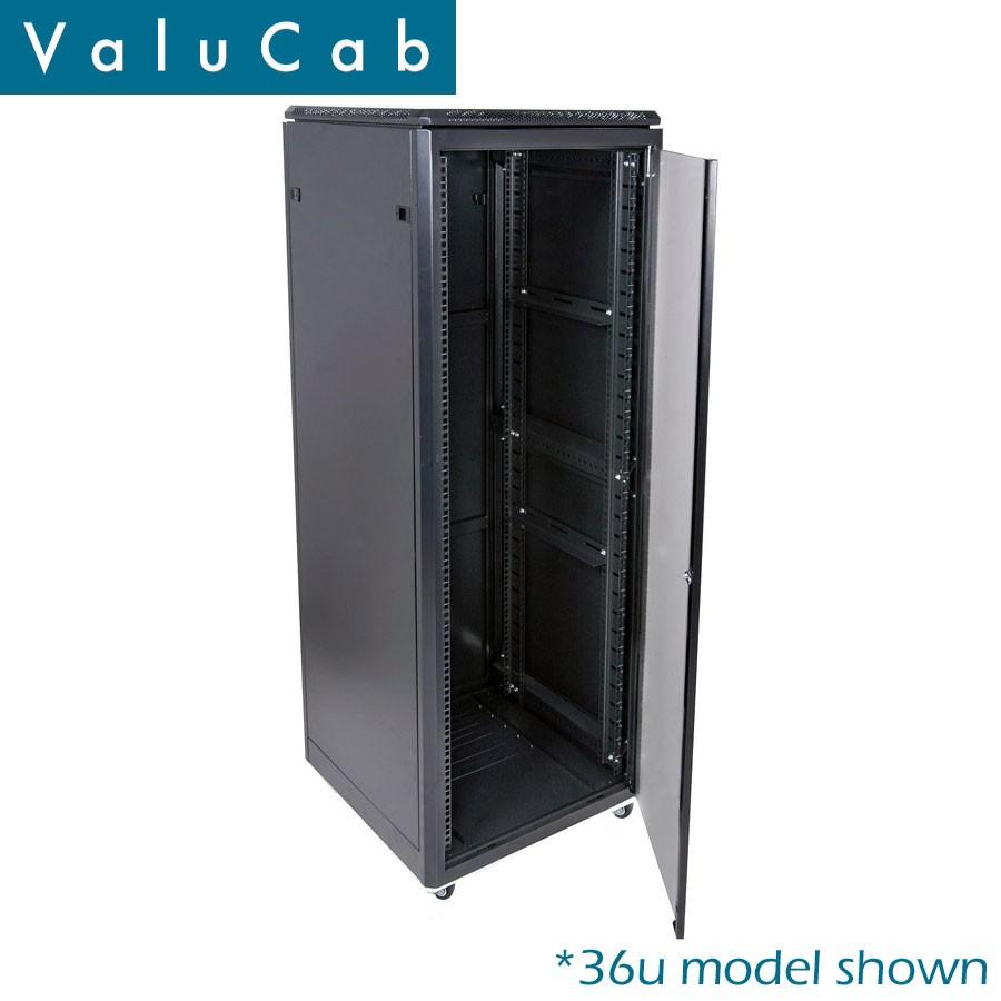 12u 600x1000 rack mount data rack comms cabinet server enclosure cab fe 12u 6100na valucab