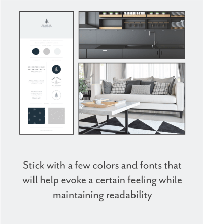 keep the design clean and simple