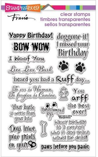 Stampendous Dog Sayings Perfectly Clear Stamps SSC1223