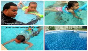 swimming lessons collage