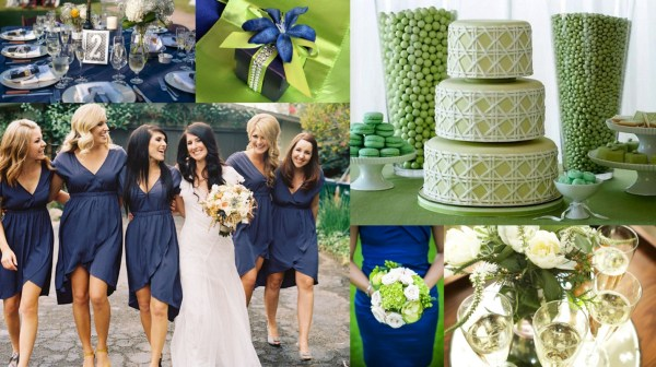 Royal Blue & Kelly Green Color Theme Wedding