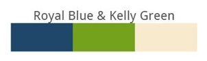 Royal blue & Kally Green