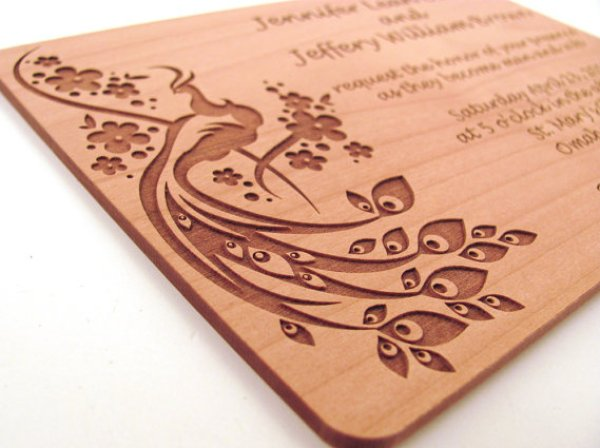 Wooden Feel invitation
