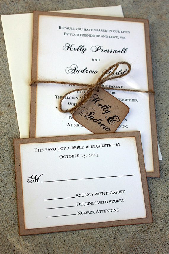20 Rustic wedding invitations Ideas | Rustic Wedding Invites ...