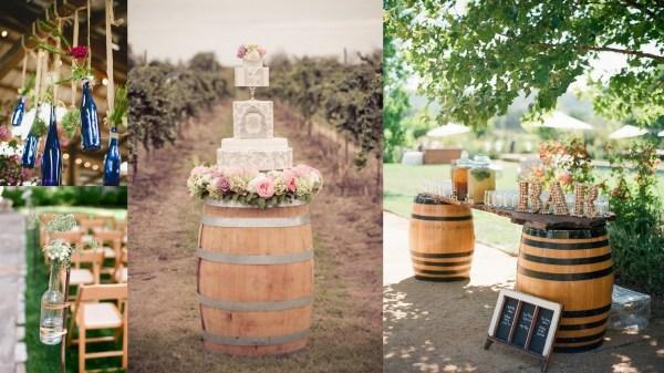 Vineyard wedding decoration- 123WeddingCards