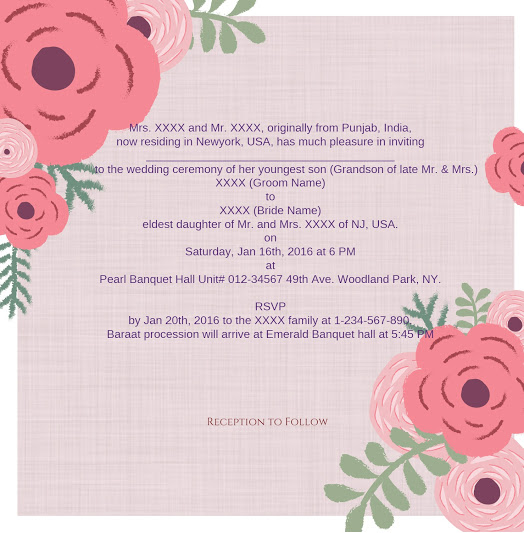 Wedding Cards Template 123weddingcards Invitation Wordings