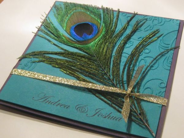 MuslimPeacock Theme Wedding Cards - 123WeddingCards