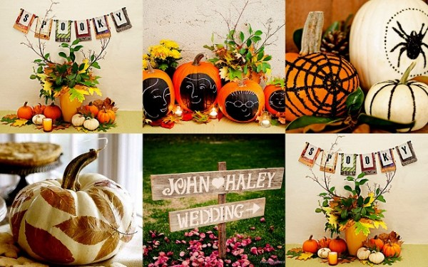 Painted Pumpkin Rustic wedding - 123WeddingCards