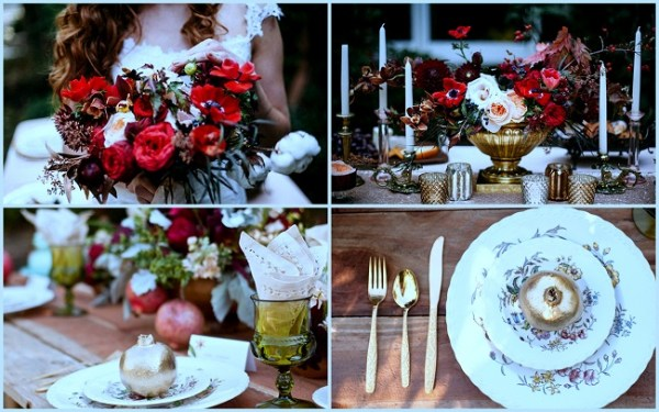 Rustic Wedding Painted Pomigranate - 123WeddingCards