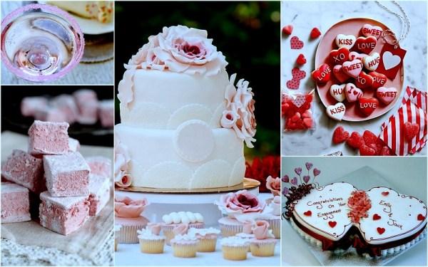 Valentine wedding Cakes - 123WeddingCards
