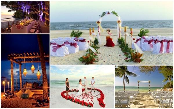 Beach wedding decorations- 123WeddingCards
