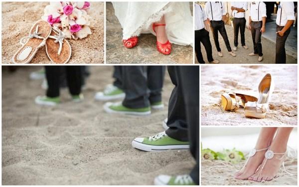 Beach wedding shoes - 123WeddingCards