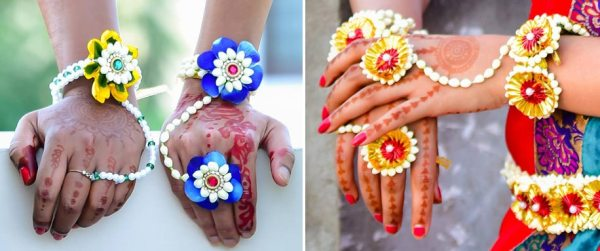 Floral Jewellery Hathphool|123WeddingCards