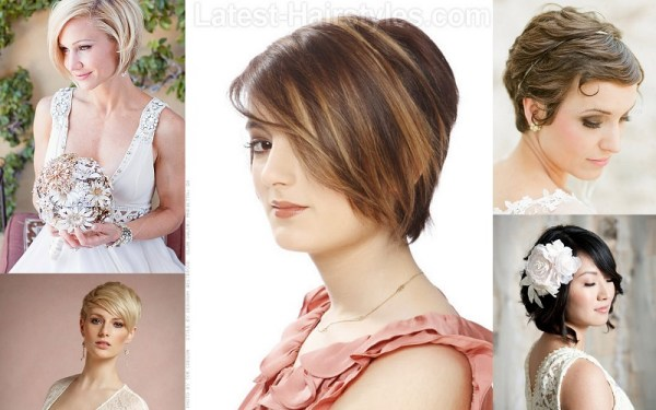 Short Hairs Wedding Hairstyle