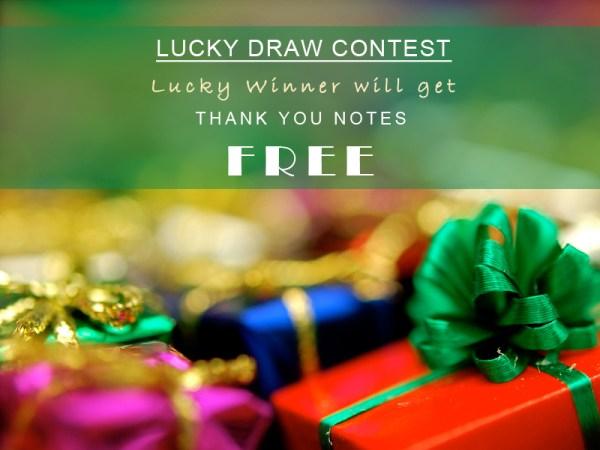 Lucky Draw Contest | 123WeddingCards