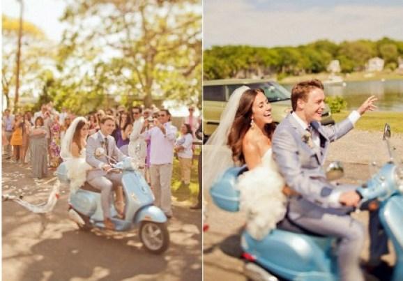 bride-and-groom-on-vespa-scooter   123WeddingCards
