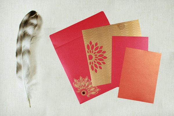 Pink Wedding Card   123WeddingCards