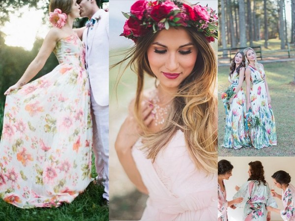 Floral Wedding Dresses - 123WeddingCards