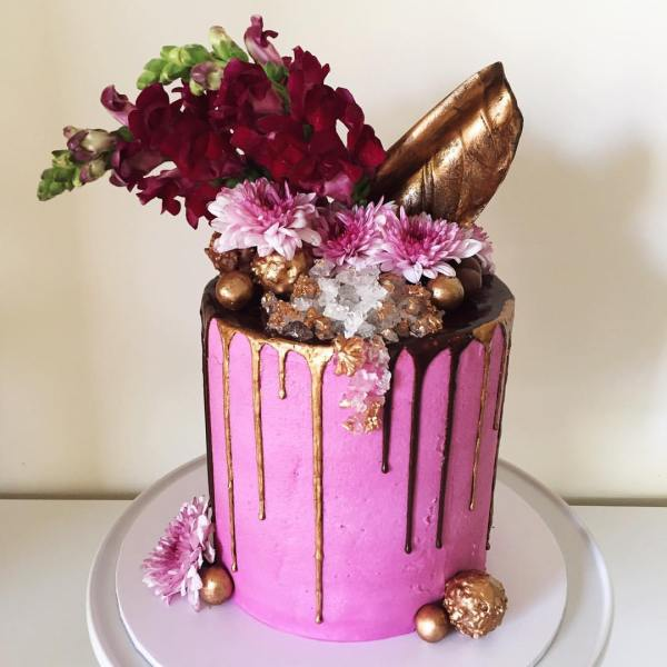 chocolate cake filled with crushed ferreros - - 123WeddingCards