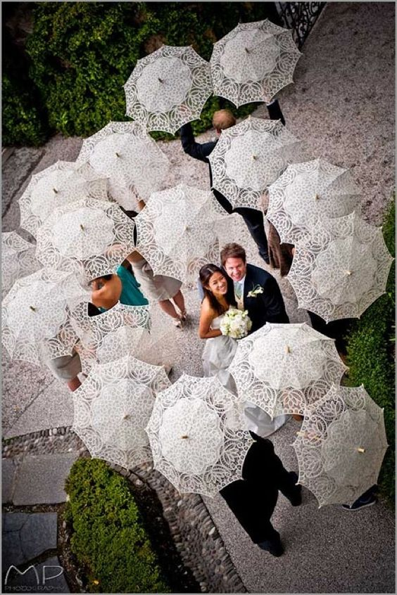 colourful paper parasols -