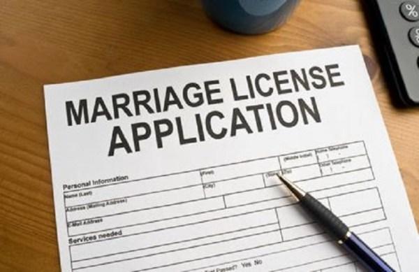 Marriage License Application Idea - 123WeddingCards