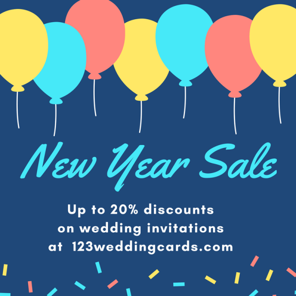 New Year Sale 2018 - 123WeddingCards