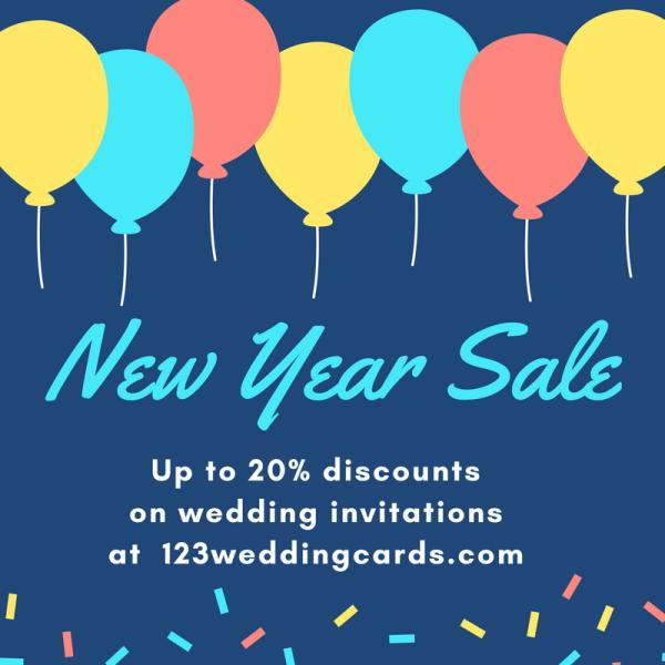 New Year Sale 2018 - 123WeddingCards