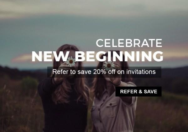 Refer & Save offer- 123WeddingCards
