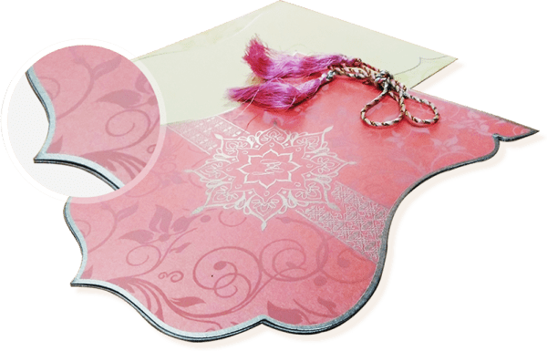 die-cut theme invitation - 123WeddingCards