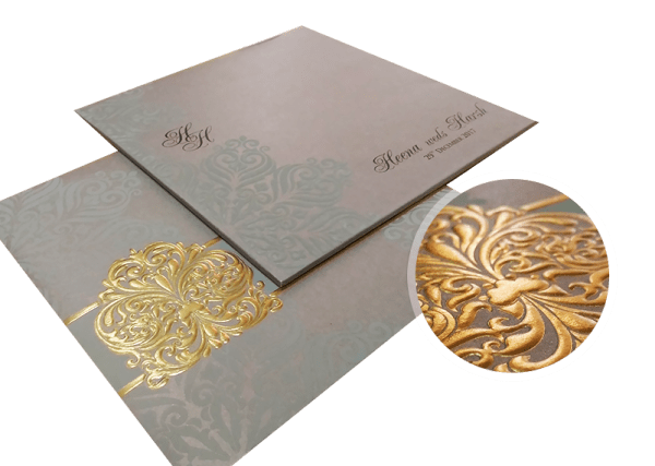 embossed process of wedding invitations - 123WeddingCards