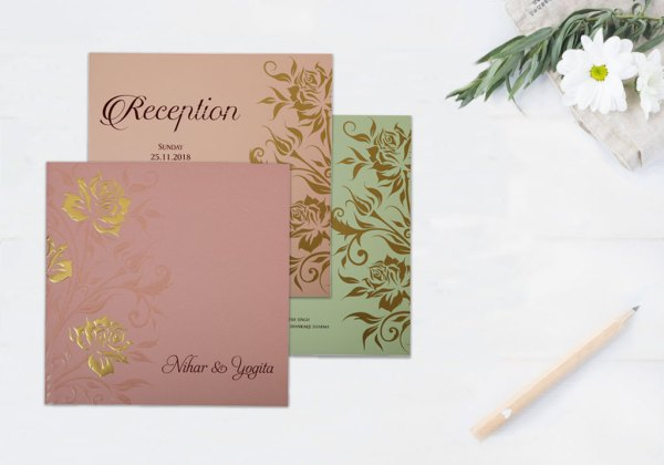 Tropical floral Invitation - 123WeddingCards