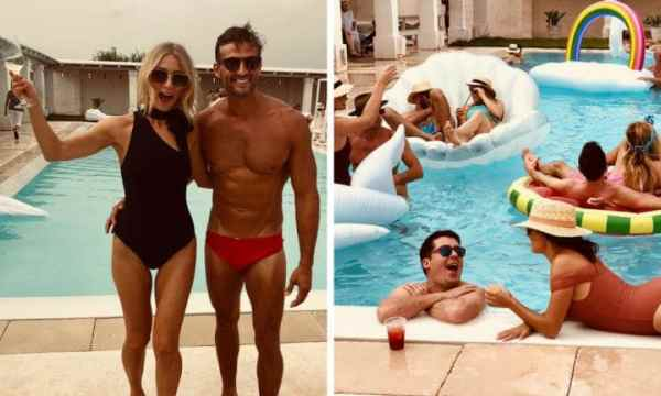 Anna Heinrich and Tim Robards epic pool party
