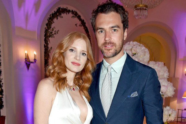 Jessica Chastain and Gian Luca Passi de Preposulo wedding
