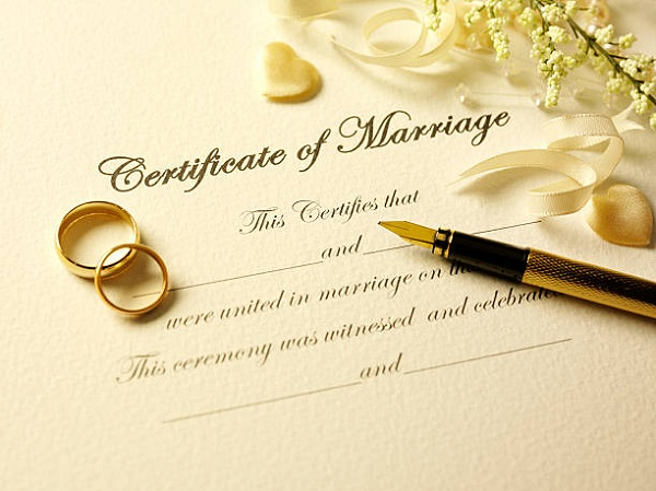 Get ready for signing your marriage license