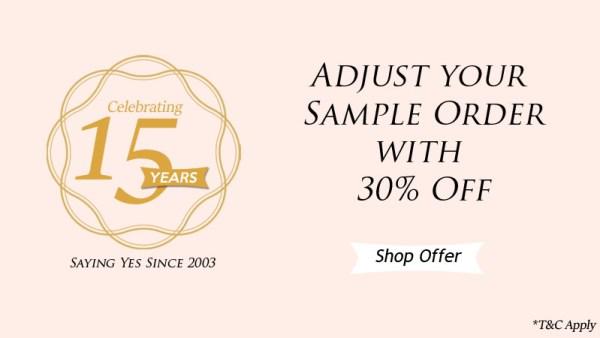 sample order price adjustment - 123WeddingCards