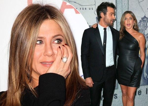 Jennifer Aniston & Justin Theroux engagement ring