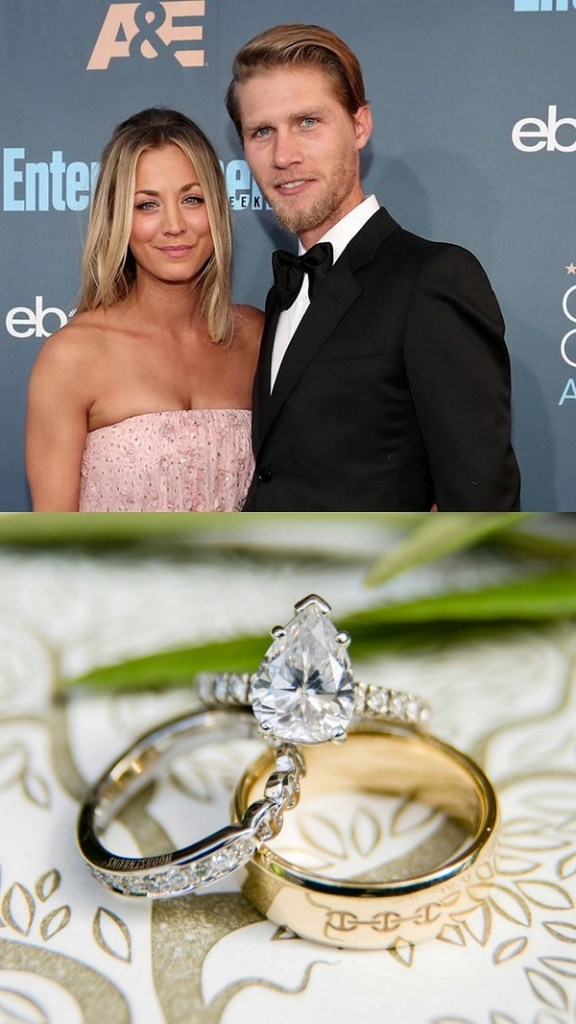 Kaley Cuoco and Karl Cook engagement ring