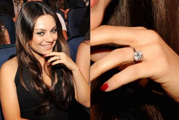 Mila Kunis & Ashton Kutcher engagement ring