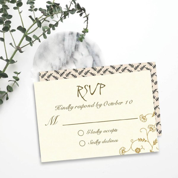 Letting them know your response RSVP-8248D - 123WeddingCards