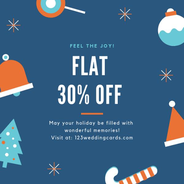 Christmas and Holiday sale 2018 - 123WeddingCards
