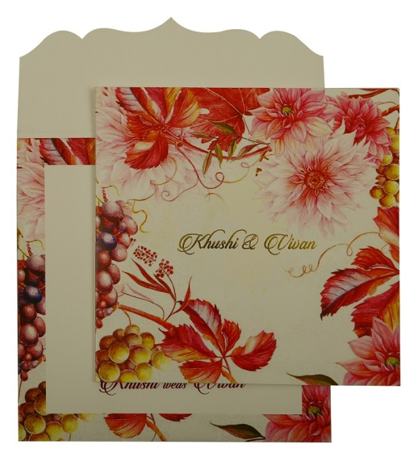 Valentine Theme Wedding Card- 123WeddingCards