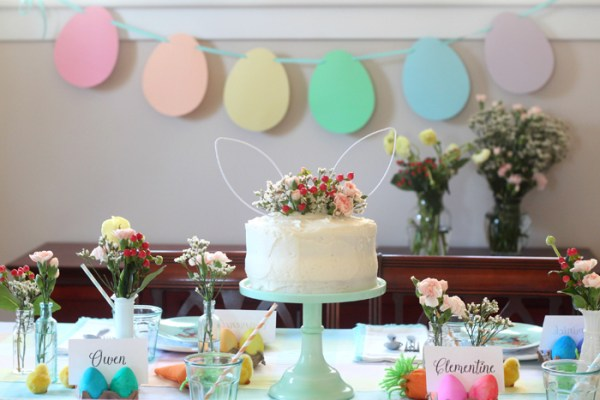 Easter inspired wedding cake