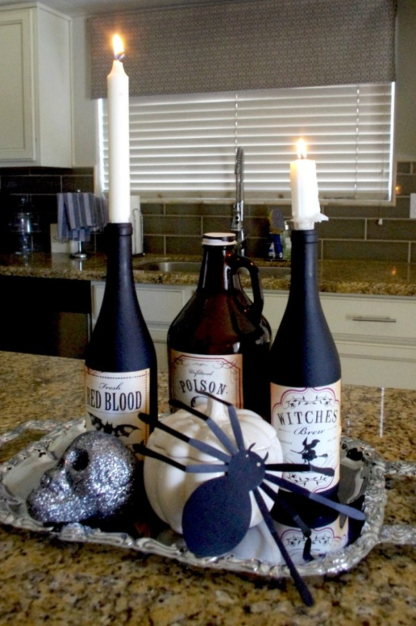 Boo Halloween Bottles