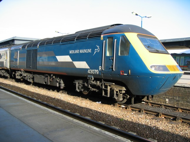 Midland Mainline 'Project Rio' powercar 43079 seen at Derby