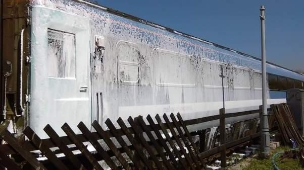 12092 undergoes a thorough wash at Ruddington